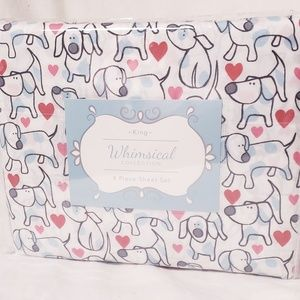 New Whimsical Collection Doggie Sheet Set